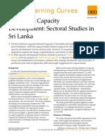 Lessons in Capacity Development- Sectoral Studies in Sri Lanka