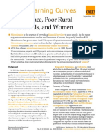 Micro Finance, Poor Rural Households and Women