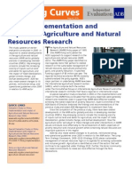 Policy Implementation and Impact of Agriculture and Natural Resources Research