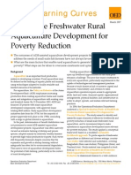 Small Scale Freshwater Rural Aquaculture Development for Poverty Reduction
