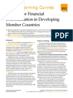 Support for Financial Inter Mediation in Developing Member Countries