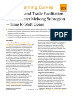Transport and Trade Facilitation in the Greater Mekong Subregion - Time to Shift Gears