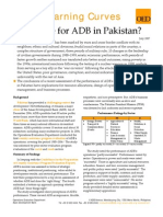 What Role for ADB in Pakistan