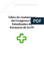 Libro Provisional de Resumenes II Congreso de Estudiantes de Farmacia de la UV