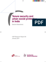 Tenure Security and Urban Social Protection in India