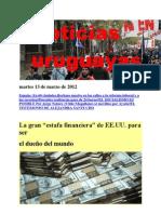Noticias Uruguayas Martes 13 de Marzo de 2012