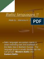Baltic Languages !!
