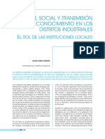 Capital social y transmisión de conocimiento en los distritos industriales (Es)/  Social capital and knowledge transfer in industrial districts (Spanish)/  Kapital soziala eta ezagutzaren trasmisioa barruti industrialetan (Es)