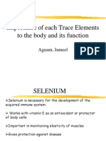 Trace Elements Function