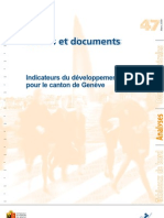 Indicateurs Developpement Durable Brochure 2009 Ocstat Geneve