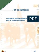 Indicateurs Developpement Durable Brochure 2009 Ocstat Geneve