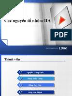 Các nguyên tố nhóm IIA