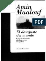 Amin Maalouf_ El Desajuste Del Mundo
