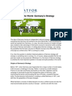 Srtafor Germany's Strategy the State of the World