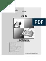 Mesin Fax GQ 12SG