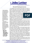 Social Entrepreneurs - The Jobs Letter