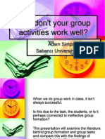 Why Don't Your Group Activities Work Well