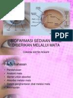 Biofarmasi Sedian Yang Diberikan Melalui Mata1