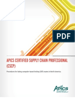 Apics Certified Supply Chain Professional