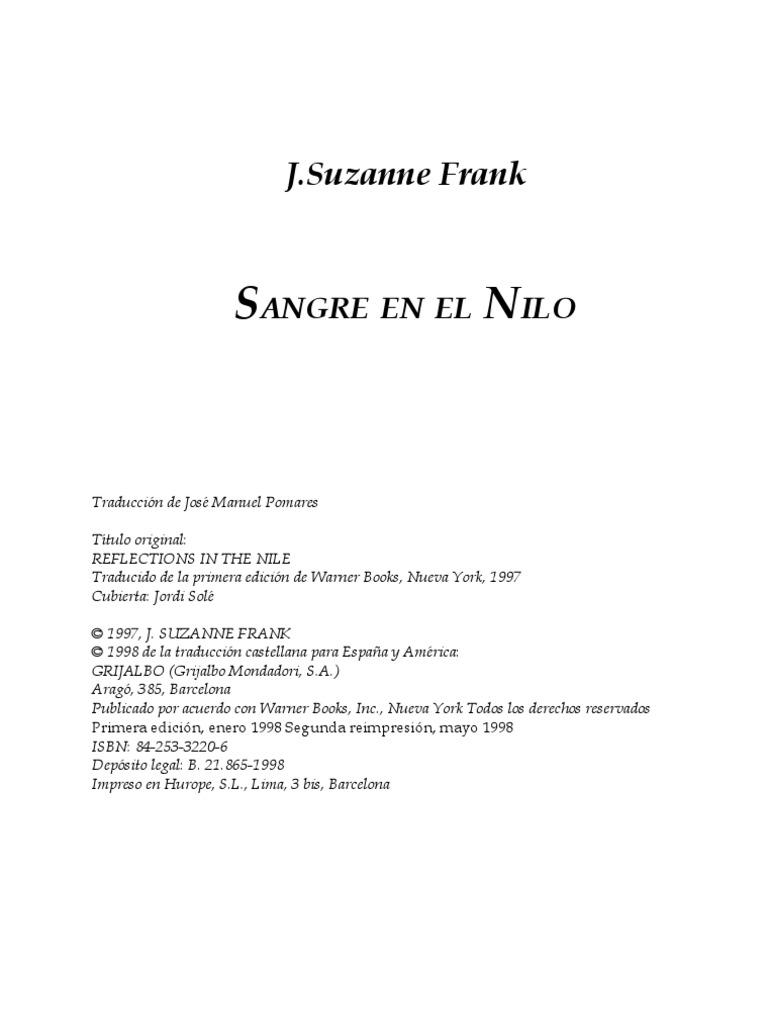Suzanne Frank - Sangre en El Nilo