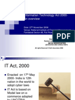 Information Technology Act 2000 an Overview Sethassociatesppt