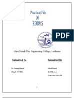 Reference Practicle file for RDBMS-II