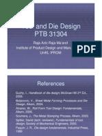 Tool & Die Design Lecture Jan2011 13Mar12