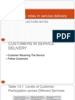 Consumer Role in Service Delivery