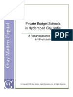 Private Budget Schools in Hyderabad India a Reconnaissance Study by Shruti Joshifinal