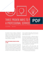 Three Ways to Position a Professional Services Firm