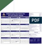 Richland One 2011-12 District Calendar_081511