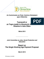 Single Working Age Payment Report 13 March 2012