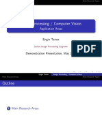 Image Processing Computer Vision Application Areas