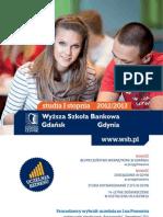 Informator 2012 - studia I stopnia - Wyższa Szkoła Bankowa w Gdańsku