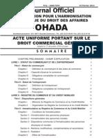 OHADA - AU Droit Commercial