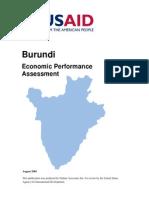 Burundi Economic Performance Assessment