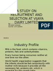 A Study on Recruitment and Selection at Vijaya