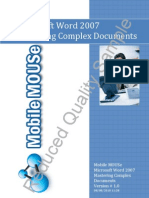 Word 2007 Mastering Complex Documents Manual Sample