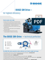 The Patented BOGE GM Drive – For Highest Efficiency
