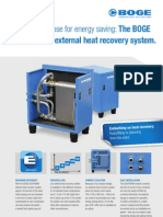 BOGE Air Compressors - DUOTHERM External Heat Recovery System