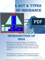Irda Act & Types of Insurance