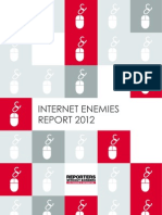 RSF Reporte Censura Internet 2012