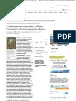 («Dante antisemita e islamofobo. La Divina Commedia va tolta dai programmi scolastici» - Corriere.it)