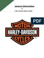 07 UltraClassic Maintenance Information