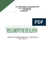 REGLAMENTO DE ESCALAFÓN