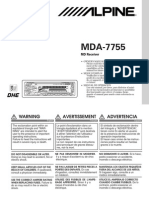 Alpine Mda7755 Manual