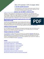Nieuwsbrief Politie 2.0 nummer 129 13 maart 2012