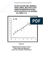 Manual Regresion Multiple Con Spss