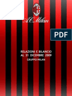AC Milan Bilancio (Accounts and Report) 2009