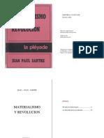 Jean Paul Sartre Materialismo y Revolucion